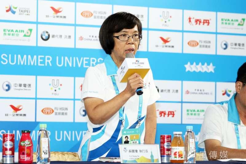世大運執行長蘇麗瓊已請辭台北市政府祕書長,另一方面綠營人士則盛讚她在世大運時的表現。(資料照片。蘇仲泓攝)
