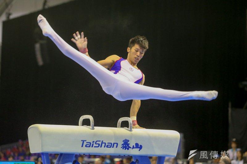 世大運在競技體操項目,李智凱在鞍馬項目以14.8分並列第1,地板項目拿下13.7分,名列第5,跳馬與單槓也名列第8,不過單槓僅拿下第11,而吊環更應發生失誤,單項分數名列墊底。(陳明仁攝)