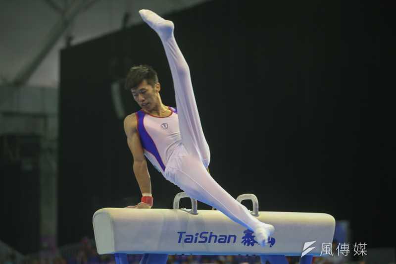 曾演出《翻滾吧!男孩》電影的李智凱不負眾望,在世大運體操項目為中華隊再奪一金。(陳明仁攝)