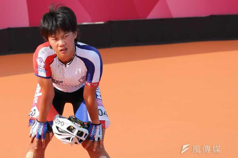 20170823-台灣女子滑輪溜冰好手楊合貞,因為跌倒僅得銅牌,賽後表情難掩失落。(方炳超攝)