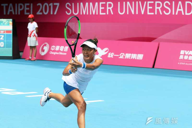 2017-08-22-世大運女子網球單人賽選手張凱貞03-蘇仲泓攝