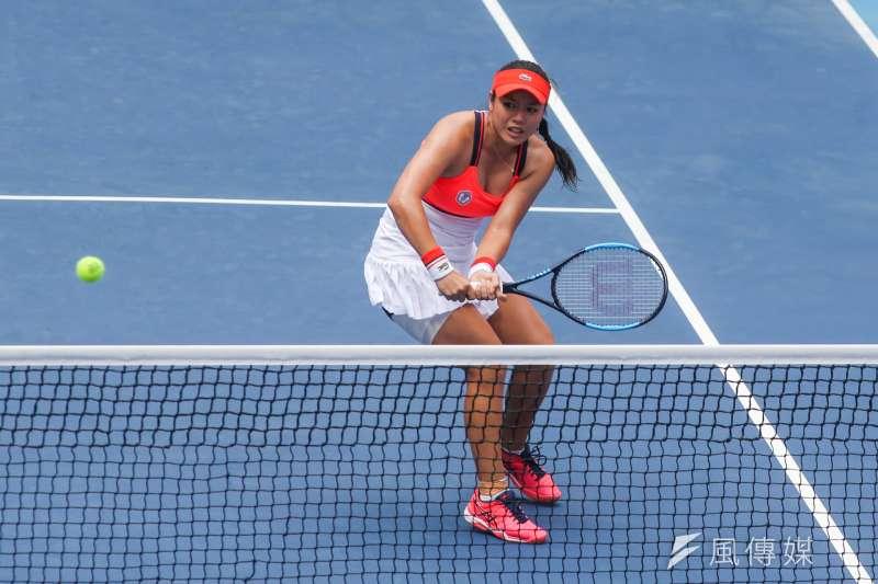 中華隊選手詹詠然退出混雙準決賽,與辛吉絲參加美網,引起爭議,有網友更直言詹詠然是事先規劃好的。(資料照,陳明仁攝)