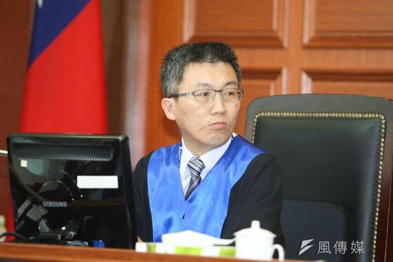 陪審法官林孟皇出席被控涉搶獲特赦的蘇炳坤提起再審,台灣高等法院第二度開庭。(陳明仁攝)
