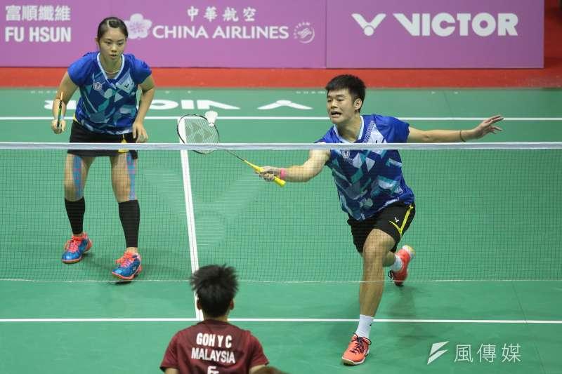 20170829-世大運中華隊羽球混雙王齊麟、李佳馨29日以2:1擊敗馬來西亞,獲得金牌。(顏麟宇攝)