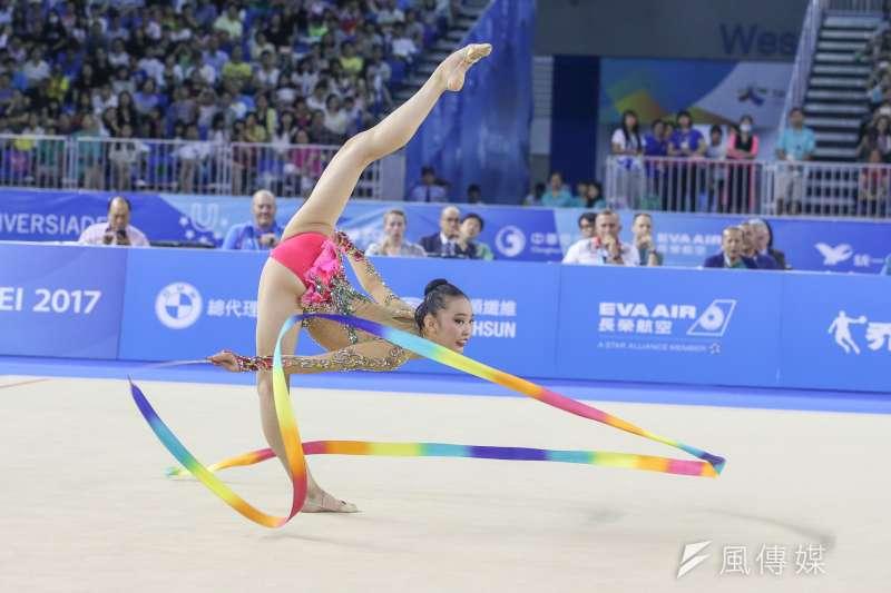 JPN日本選手參與20170829-圖集-韻律體操-棒及帶勁與美的競技。(陳明仁攝)