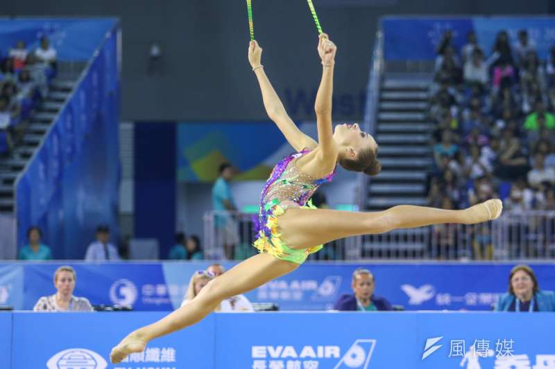 RUS-俄羅斯選手參與20170829-圖集-韻律體操-棒及帶勁與美的競技。(陳明仁攝)
