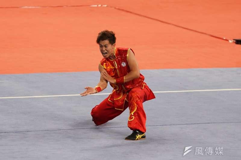世大運武術男子南拳南棍全能項目29日由許凱貴奪下金牌。(大專體總提供)