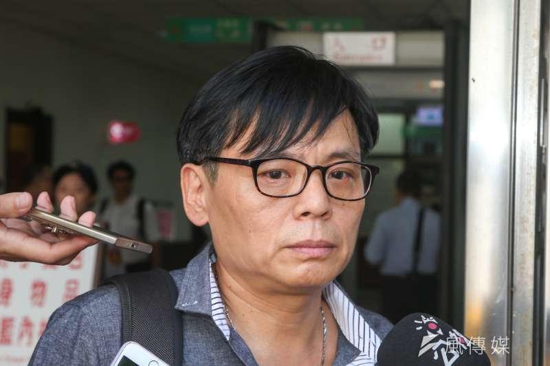 徐自強向高等法院聲請刑事補償案,共2814萬元,29日出席訊問庭。(陳明仁攝)