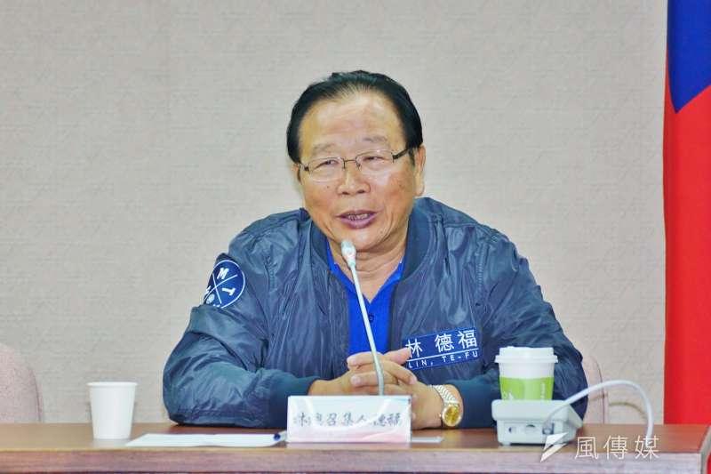 20170830-國民黨團大會,立委林德福發言。(盧逸峰攝)
