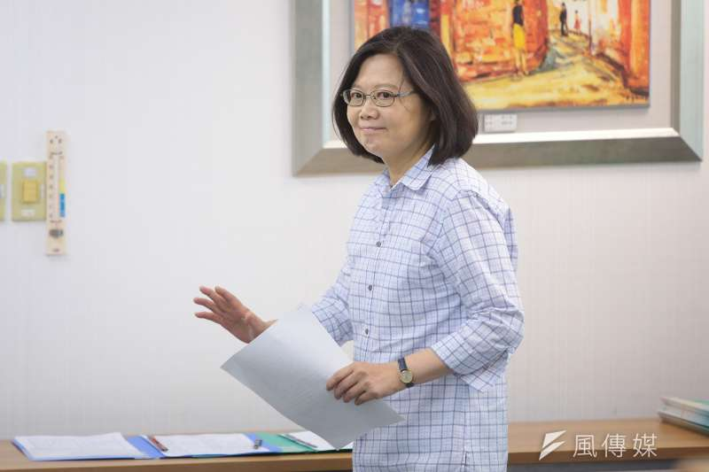 20170830-總統蔡英文30日出席民進黨中常會。(顏麟宇攝)
