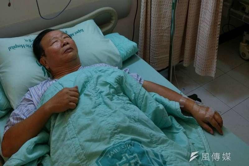 立法院國民黨團總召林德福30日下午突然血壓飆高,緊急送雙和醫院急診。(林德福辦公室提供)