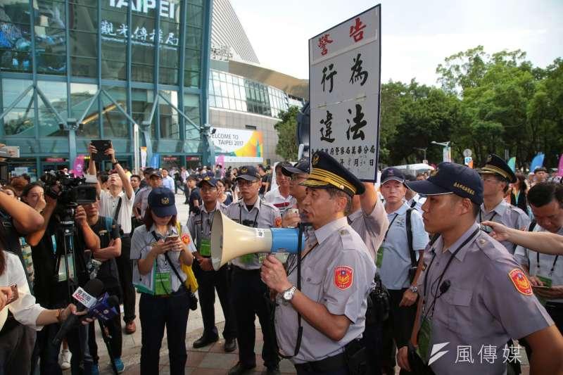 警政署3日下午發布86名高階官警調動名單,其中北市萬華警分局長陳文智因世大運維安不力,調任警政署科長。(資料照,顏麟宇攝)