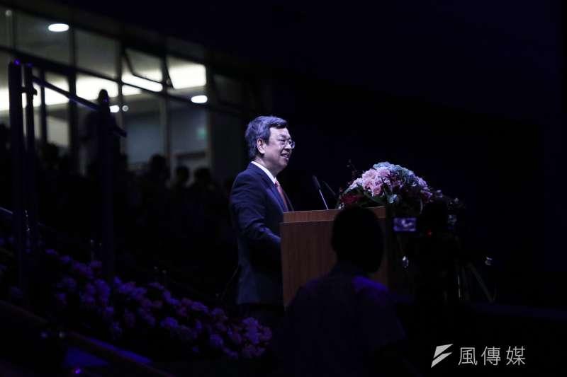 世大運閉幕典禮30日晚間登場,副總統陳建仁代表總統蔡英文致詞,向選手獻上祝福及敬意。(蘇仲泓攝)
