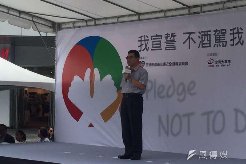 20170830-交通部主任秘書林繼國出席「不酒駕 我行」宣誓活動,表示希望透過活動,讓全民貫徹「酒駕零容忍」的概念。(李泰誼攝)