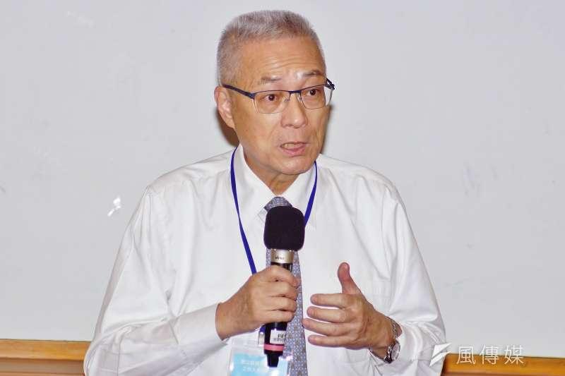 國民黨主席吳敦義出席台灣新願景論壇協會舉辦的「青年活水營」開幕。(盧逸峰攝)