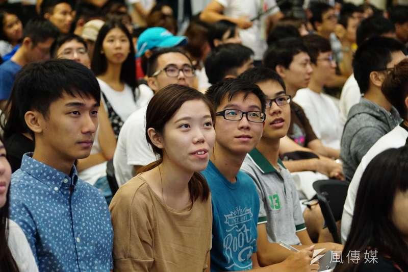 20170902-政委唐鳳出席未來大人物論壇開幕式,吸引許多年輕聽眾蒞臨。(盧逸峰攝)