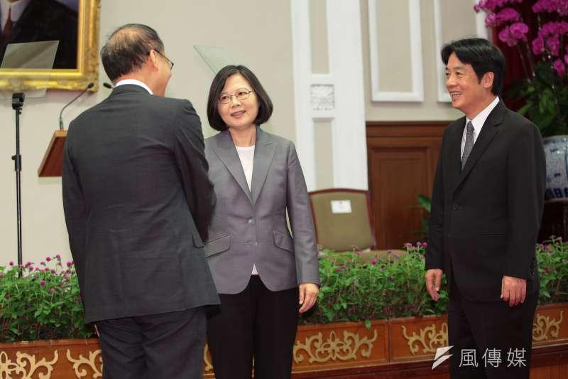 總統蔡英文5日親自召開新任行政院長公佈記者會,並確定由台南市長賴清德接任。(顏麟宇攝)
