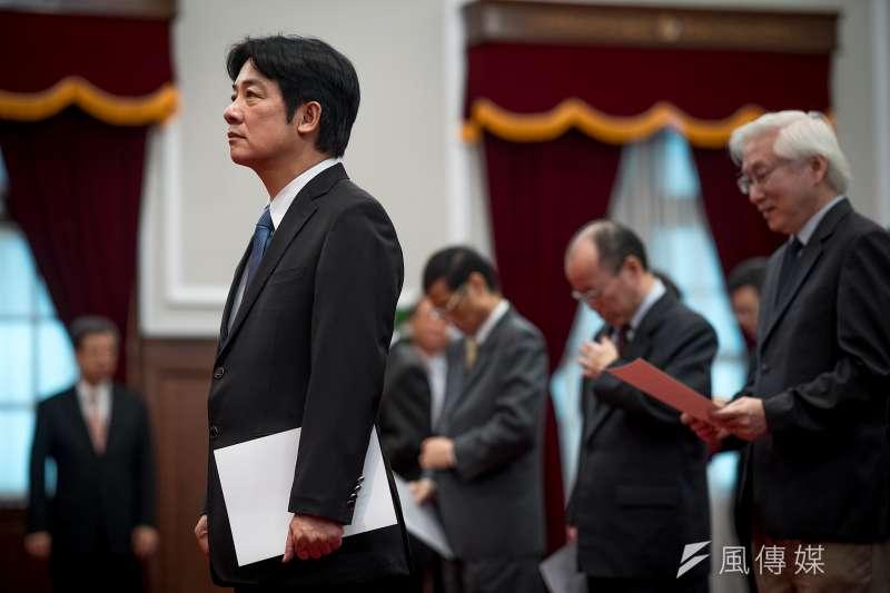 賴清德總統府宣誓,正式就任行政院長(總統府提供)