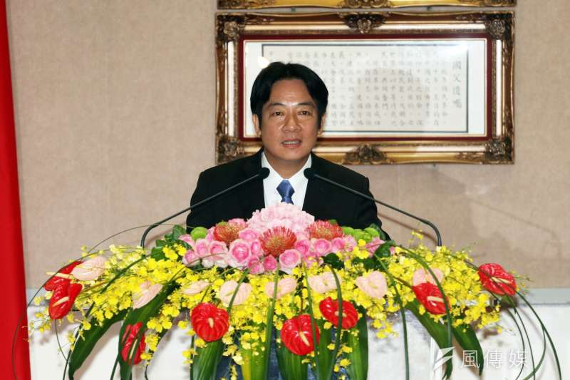 行政院8日舉行新舊院長交接,圖中為新任閣揆賴清德。(蘇仲泓攝)