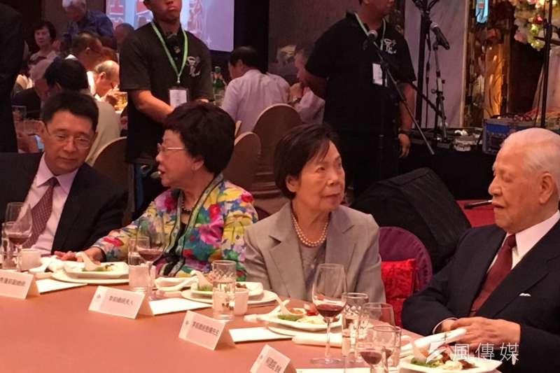 李登輝基金會9日舉行募款餐會,李登輝前總統親自出席。(顏振凱攝)