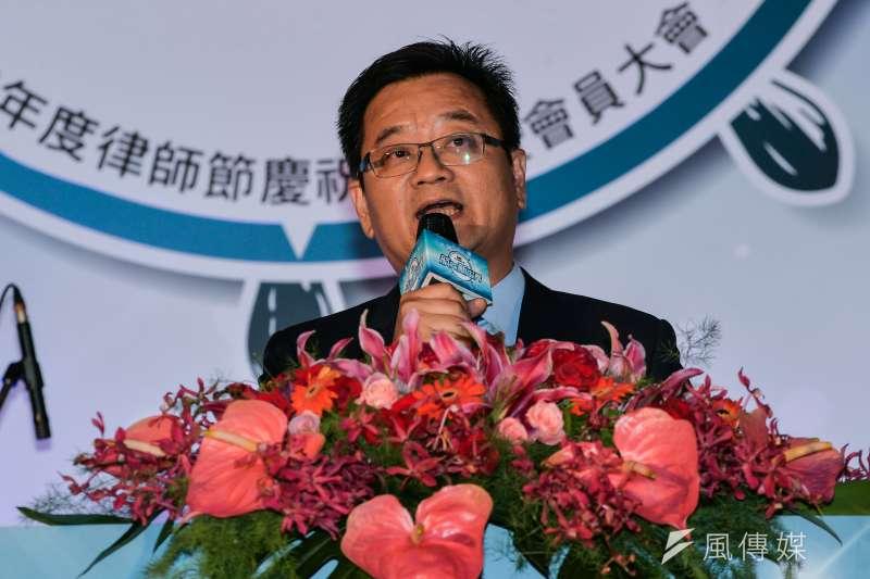 20170909-台北律師公會會員大會,薛欽峰致詞。(甘岱民攝)