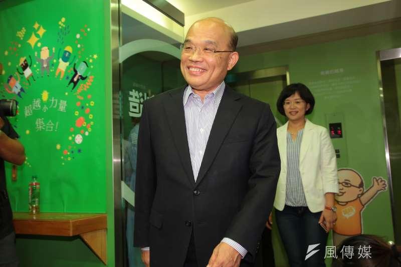 前行政院長蘇貞昌目前地方跑得勤,新北市長之爭還是未定之數。(資料照,顏麟宇攝)