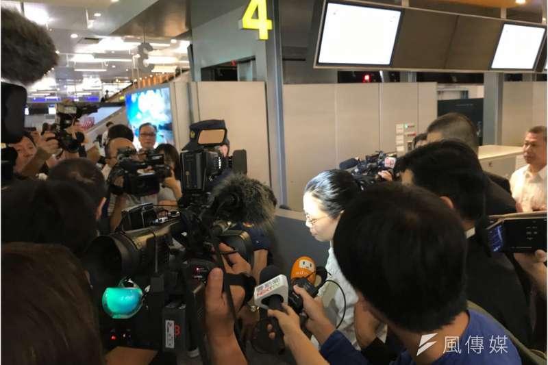2017-09-10-中國將對李明哲展開審判,李凈瑜準備動身前往中國。(石秀娟攝)