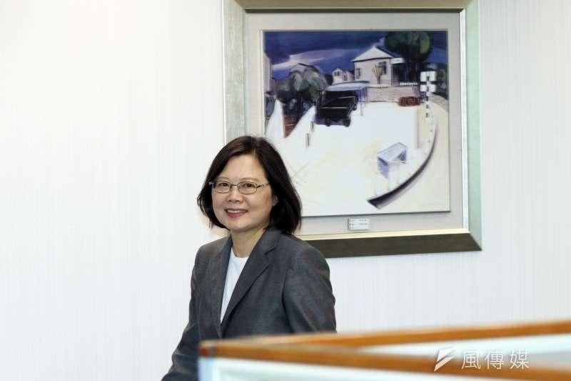 台灣民意基金會最新民調,總統蔡英文民調較上月大幅提升16.6%,來到46.4%。(資料照片,蘇仲泓攝)