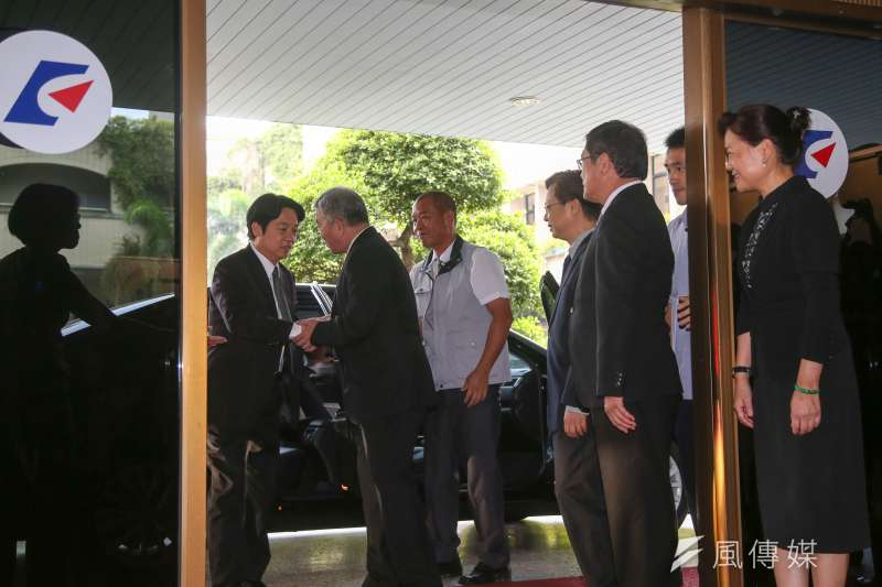 近來經濟部的長官們太累了,所以胡言增加。(左二起)經濟部部長沈榮津和三位次長龔明鑫、楊偉甫、王美花。(資料照片,陳明仁攝)