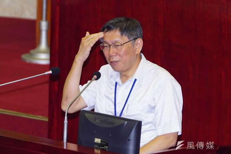 台北市長柯文哲已成民進黨的箭靶子。(盧逸峰攝)