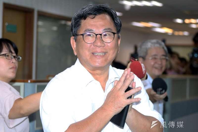 20170920-立法委員陳明文下午出席民進黨中常會。(蘇仲泓攝)