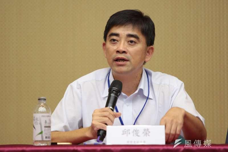 國發會前副主委邱俊榮(顏麟宇攝)