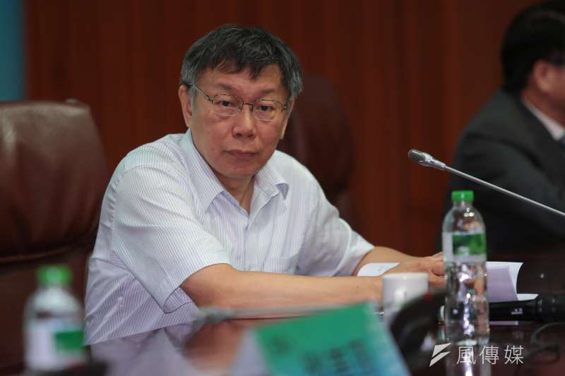 台北市長柯文哲不滿北市警察局長被突然換掉,拒見新任局長陳嘉昌,他表示是因為怕自己臉色藏不住,給人難堪,並沒有要為難的意思。(顏麟宇攝)