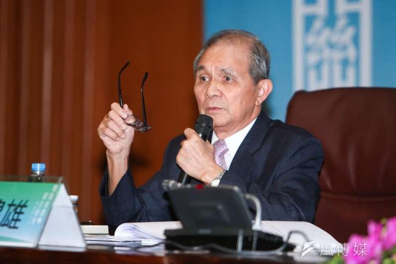 行政院31日公布,將由台灣研究基金會創辦人黃煌雄出任促轉會主委,此一人事仍須立法院同意。(陳明仁攝)