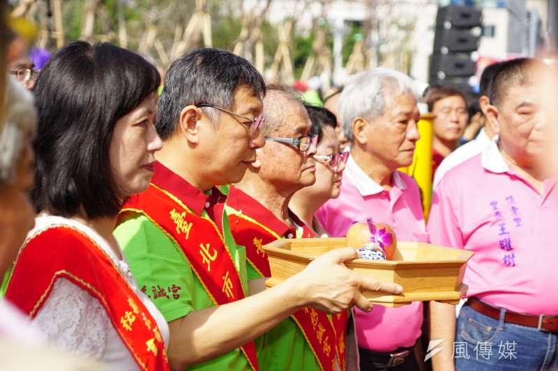 20170925-柯文哲出席北台灣媽祖文化節記者會。(盧逸峰攝)