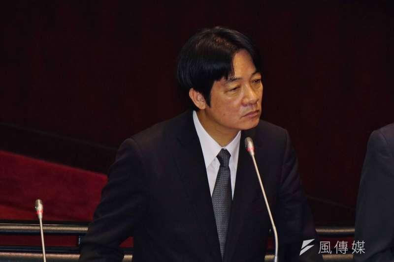 行政院長賴清德認為,民進黨內連署特赦前總統陳水扁,是「人情之常」。。(盧逸峰攝)