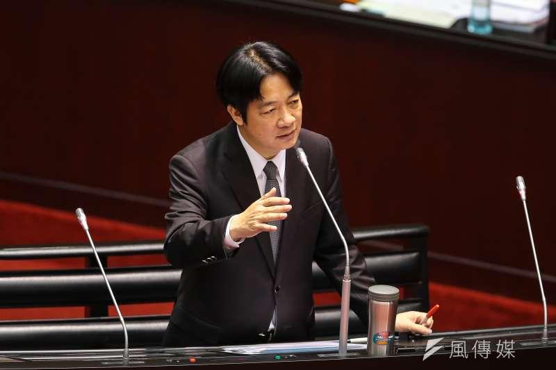 行政院長賴清德26日首度至立院進行施政報告總質詢。(顏麟宇攝)