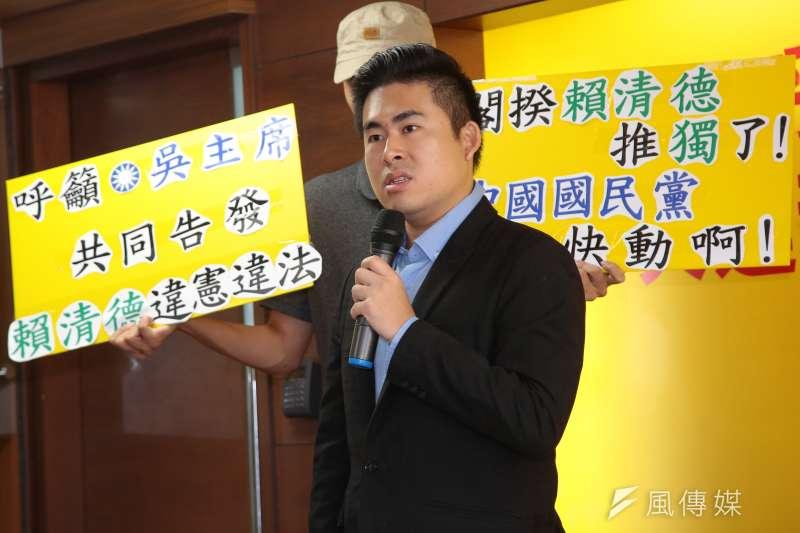 新黨發言人王炳忠等人遭到檢調搜索。(顏麟宇攝)