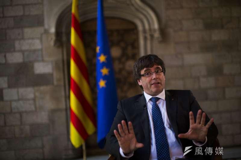 西班牙加泰隆尼亞自治區政府前主席普吉德蒙(Carles Puigdemont)(AP)