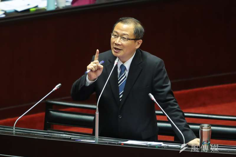 20170929-國民黨立委吳志揚29日於立院質詢。(顏麟宇攝)