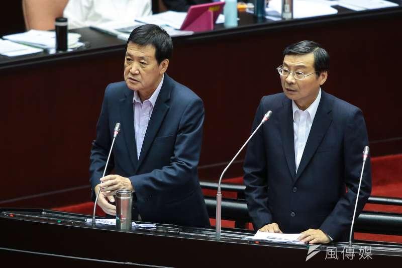 20170929-國民黨立委費鴻泰、曾銘宗29日於立院質詢。(顏麟宇攝)
