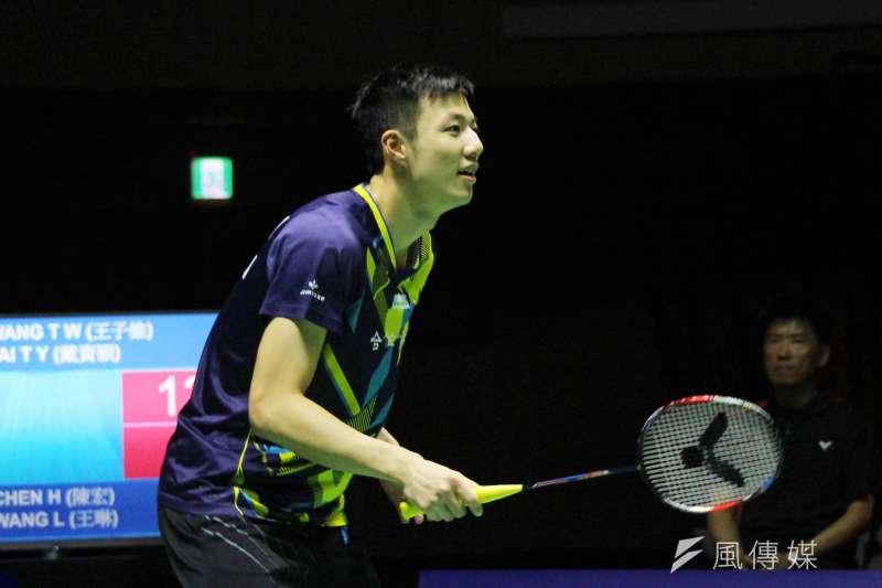 王子維在羽球世錦賽男單32強不敵西本拳太,連2年止步32強。(資料照,方炳超攝)