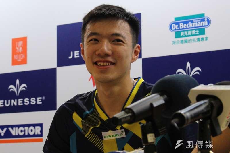 王子維在印度國際羽球錦標賽成功奪冠,同時也是個人本季首冠。(資料照,方炳超攝)