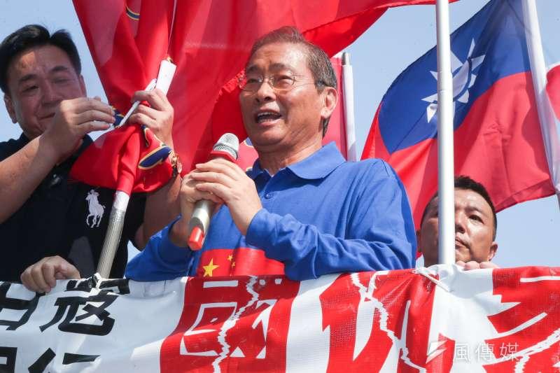 中華統一促進黨主席張安樂將發起連署,表示要將貪汙這一條納入政黨法規範,才能建立廉能政府。(資料照,陳明仁攝)