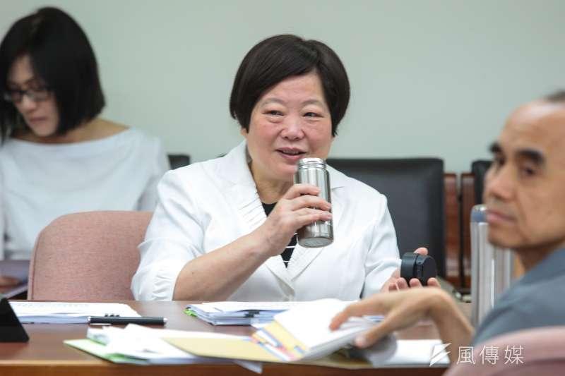 20171002-勞動部長林美珠2日出席立院衛環委員會備詢。(顏麟宇攝)