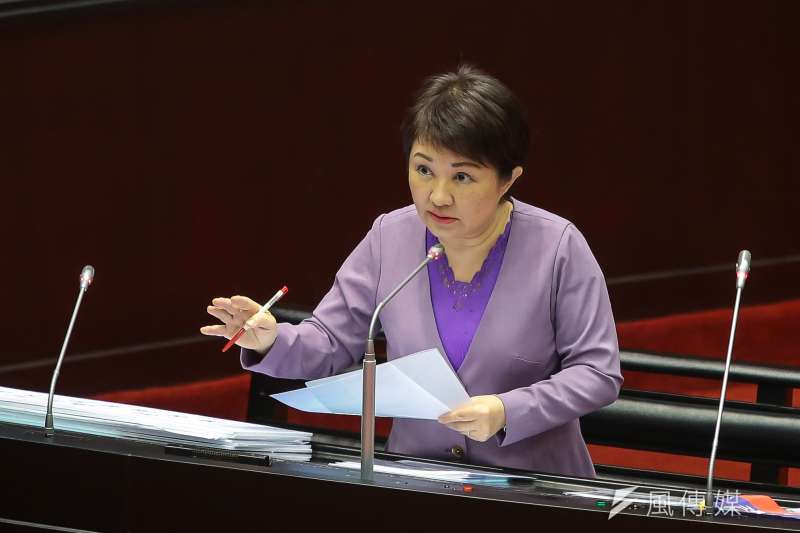 20171003-國民黨立委盧秀燕3日於立院質詢。(顏麟宇攝)