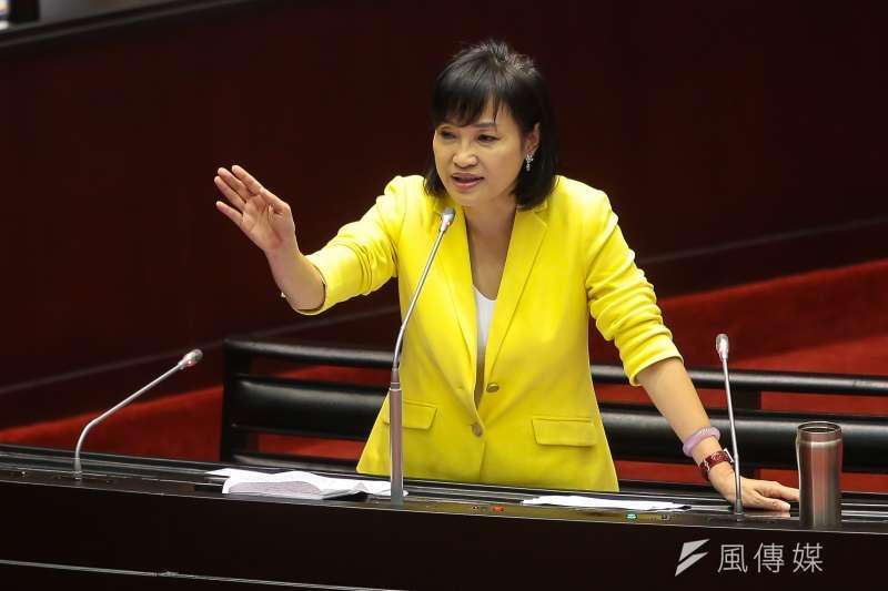20171003-國民黨立委柯志恩3日於立院質詢。(顏麟宇攝)