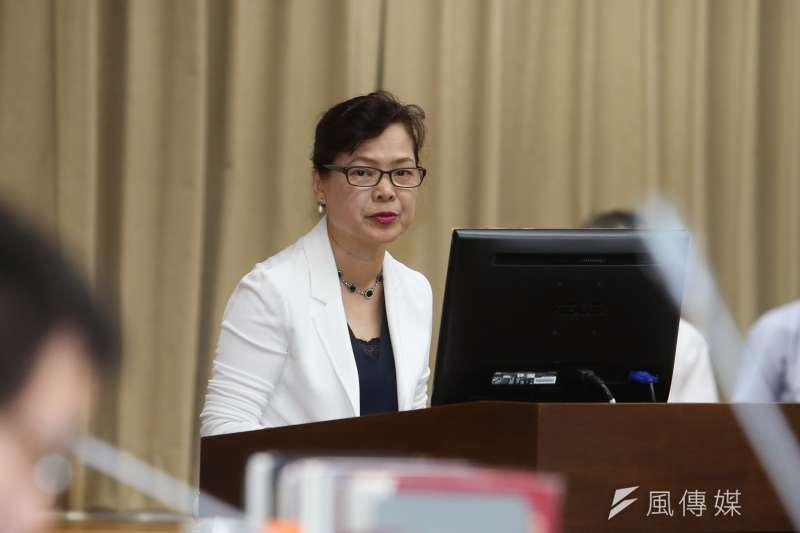 經濟部副部長王美花出席立法院委員會報告並備質詢。(陳明仁攝)