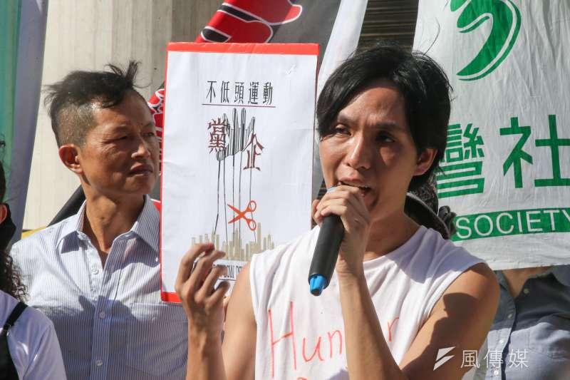 香港青年呂智恆去年來台向中共絕食抗議,呼籲台灣人不要相信兩岸一家親。9日再來台,卻遭機場拒絕入境。(資料照,陳明仁攝)