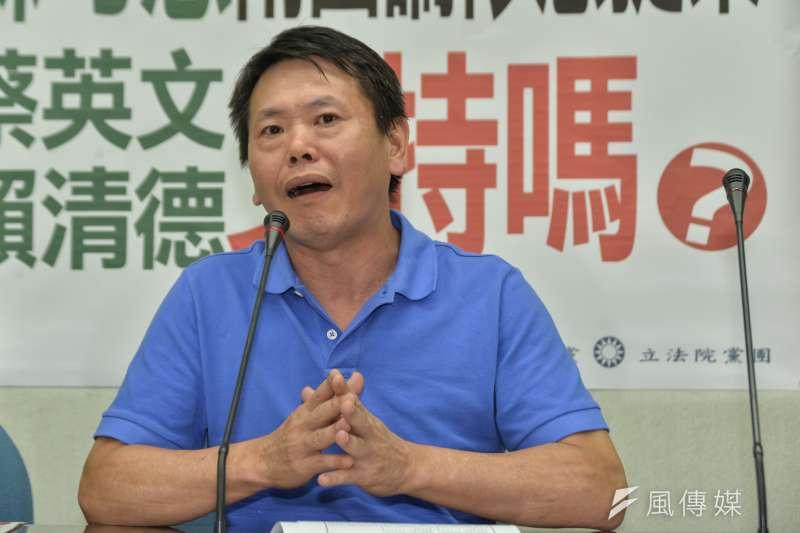 國民黨立院黨團書記長林為洲提不在藉投票,沒想到最反對的是自家離島立委。(甘岱民攝)
